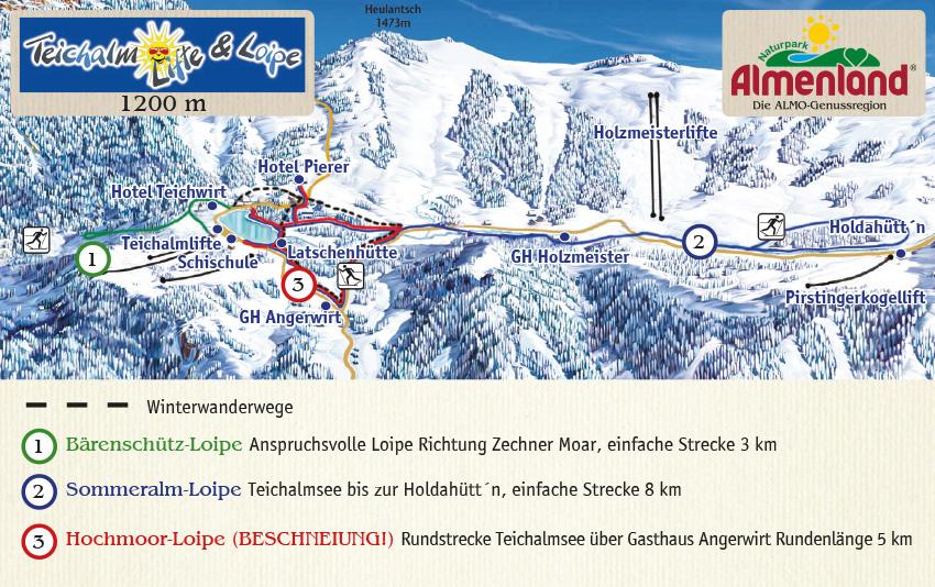 winterurlaub skiurlaub, winterurlaub skiurlaub steiermark, winterurlaub skiurlaub langlaufen schneeschuhwandern teichalm sommeralm almenland, Kornreitherhaus Loipenplan